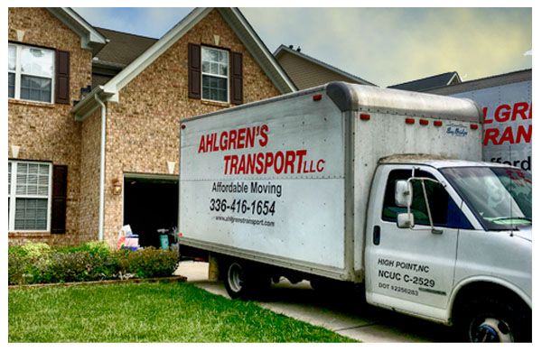 Ahlgrens Moving Truck In Driveway Greensboro NC